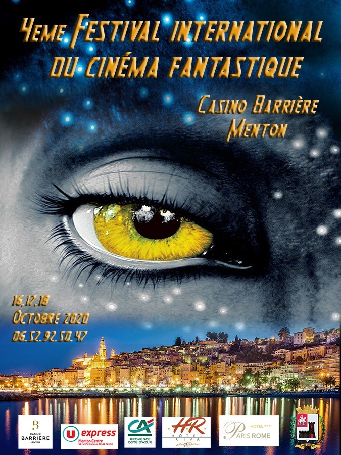 Affiche officiel du 4ème Festival International du Film Fantastique de menton