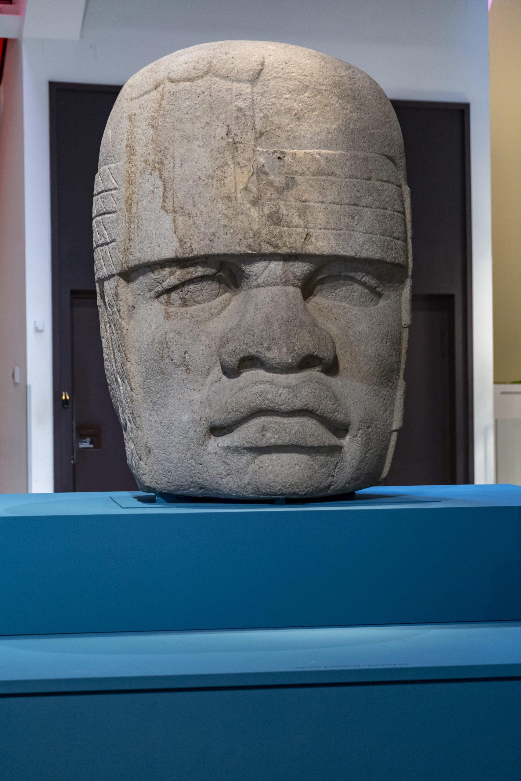 Monument 4, tête colossale n°4 1200-900 av. J.-C. Site de San Lorenzo Tenochtitlan, État du Veracruz,