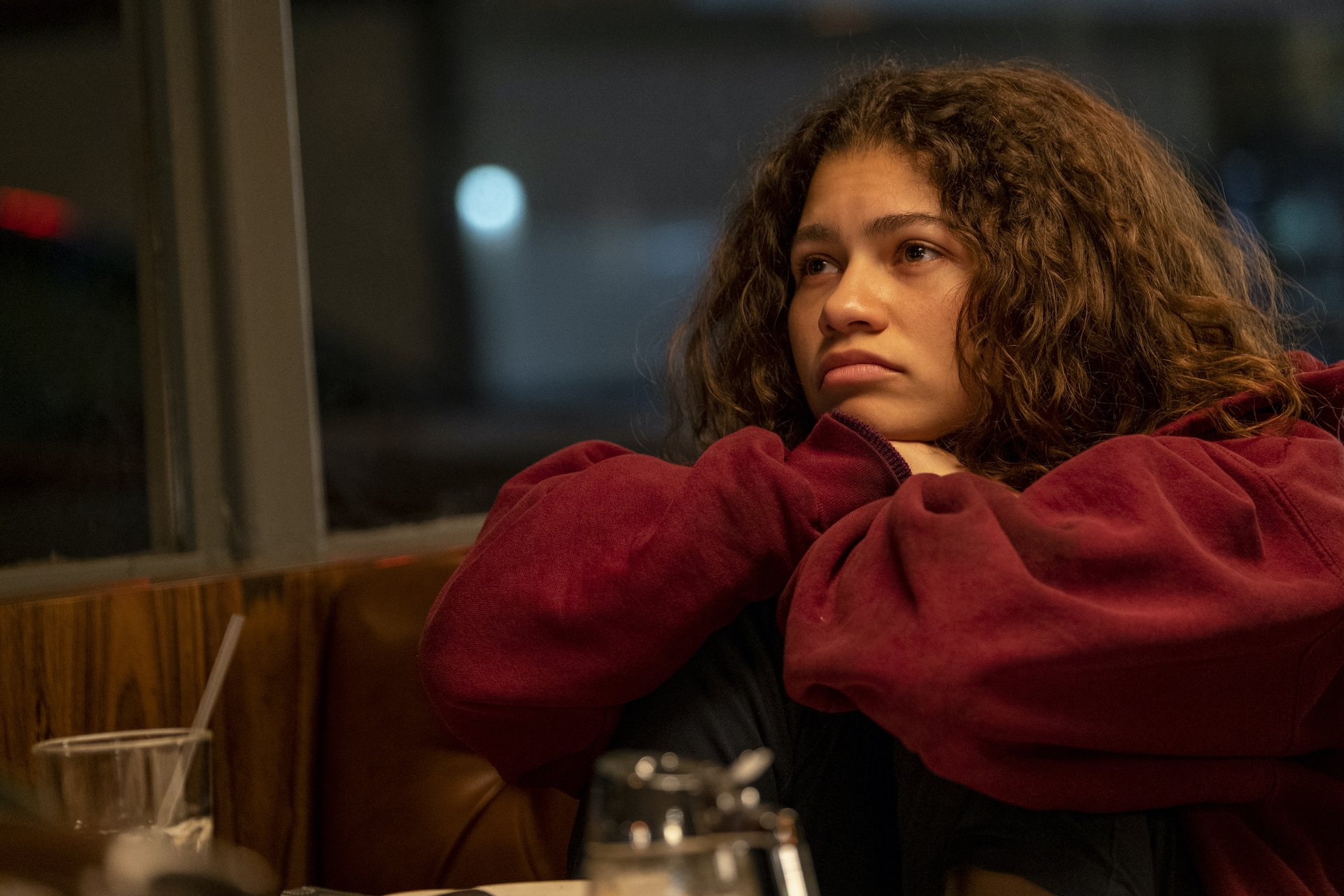 "Still of Zendaya as Rue in ""Trouble Don't Last Always""."