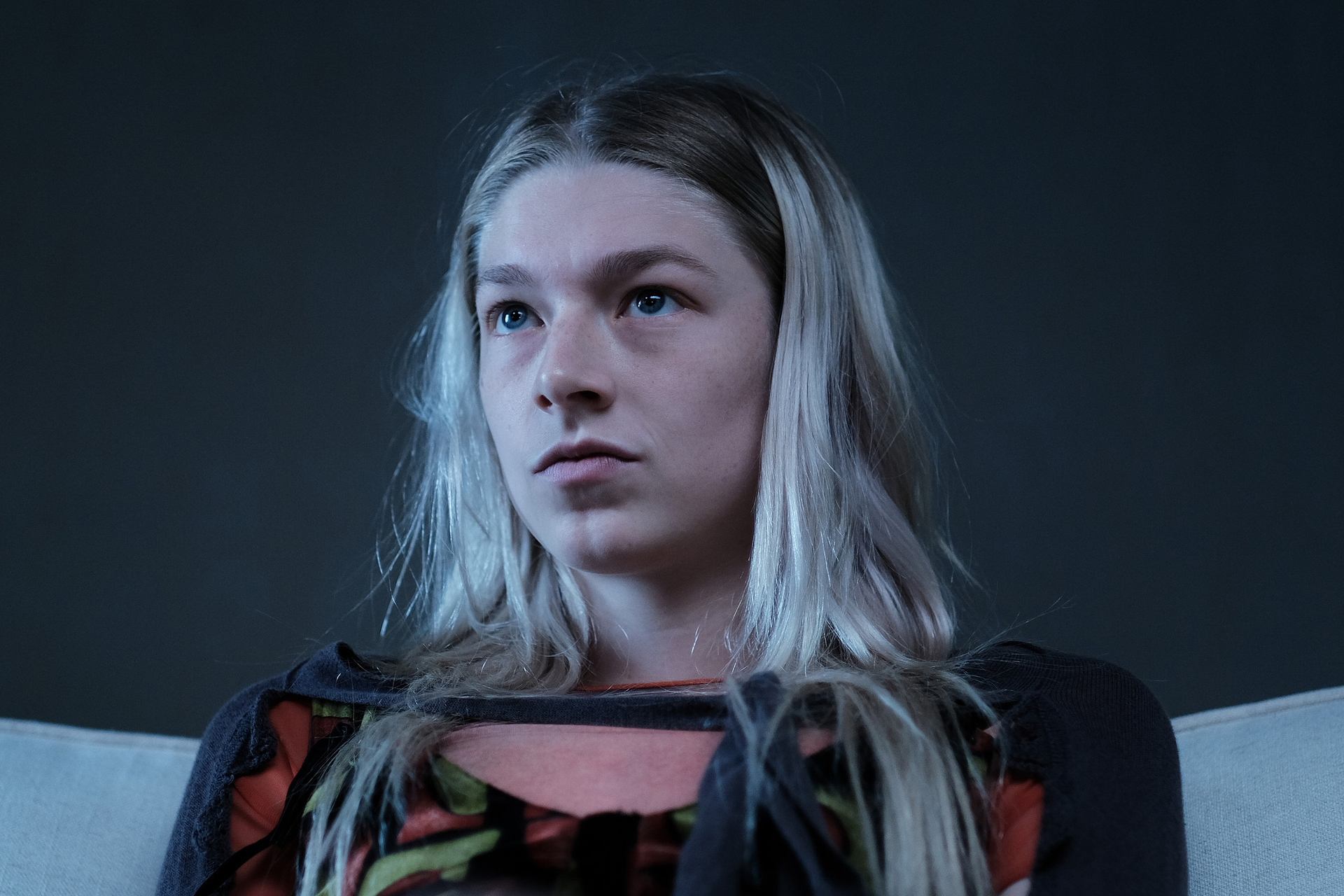 "Still of Hunter Schafer as Jules in ""Fuck Anyone Who's Not A Sea Blob""."