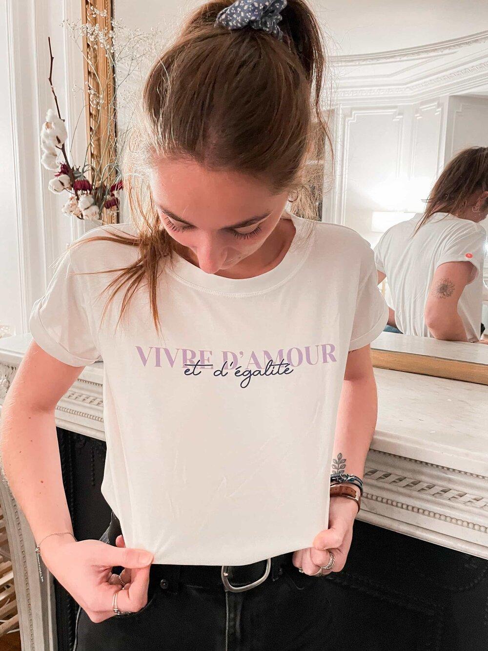 T-shirt Meuf