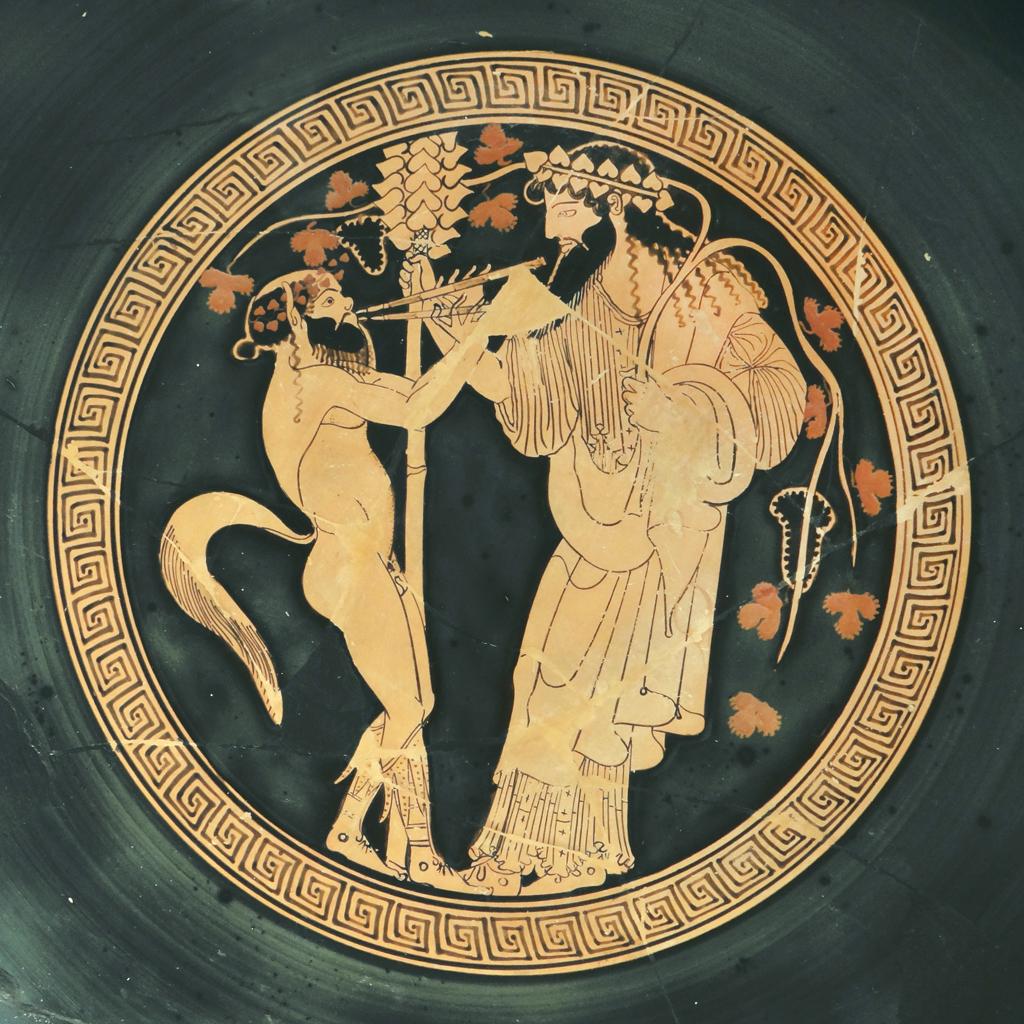 Représentation du culte de Dionysos.