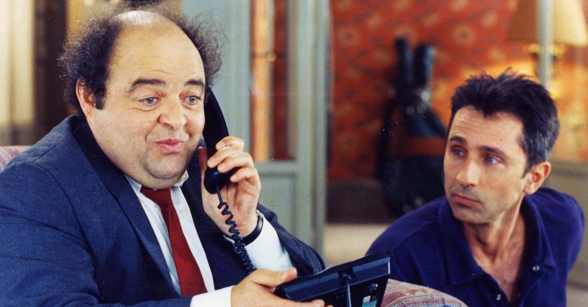 Jacques Villeret (François Pignon) et Thierry Lhermitte (Pierre Brochant) dans Le dîner de con.