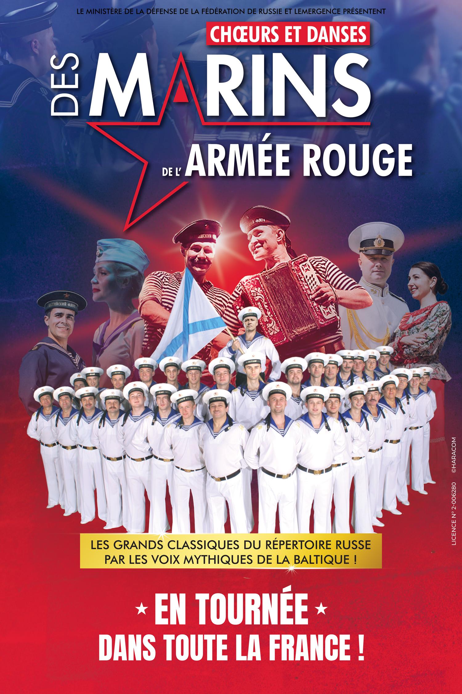 Chœurs et Danses des Marins de l'armée Rouge, Tournée Française