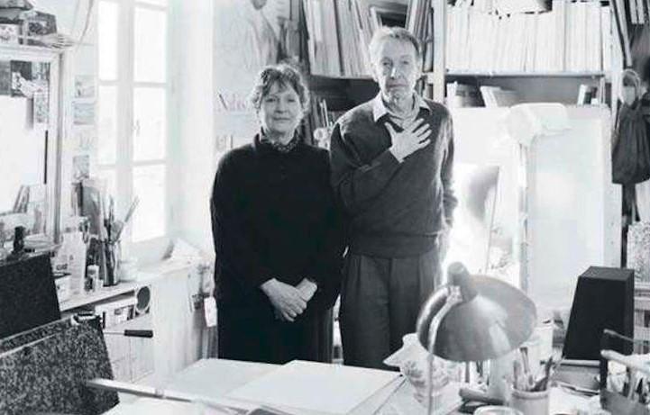 Photographie de Philippe Jaccottet et d'Anne-Marie Jaccottet.