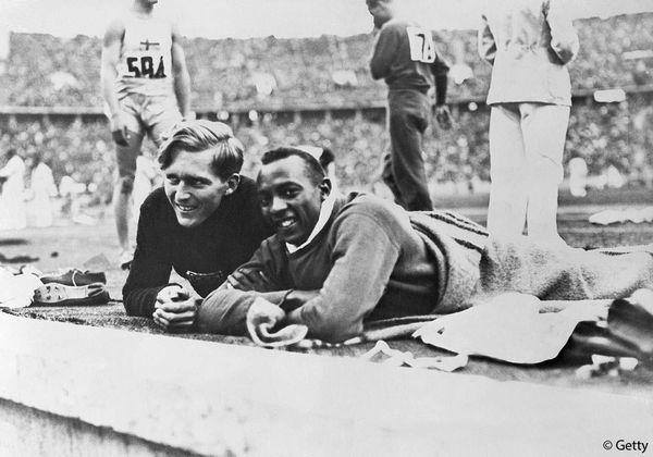 Luz Long et Jesse Owens.