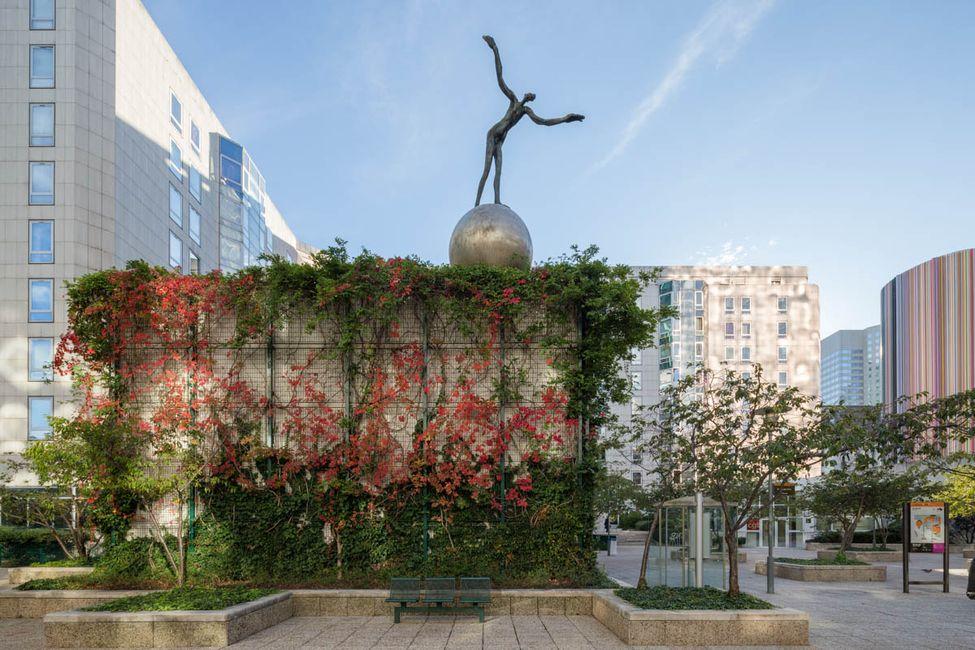 Henri de Miller (1953-1999),Le Somnambule, acier inoxydable chromé, bronze, 1983