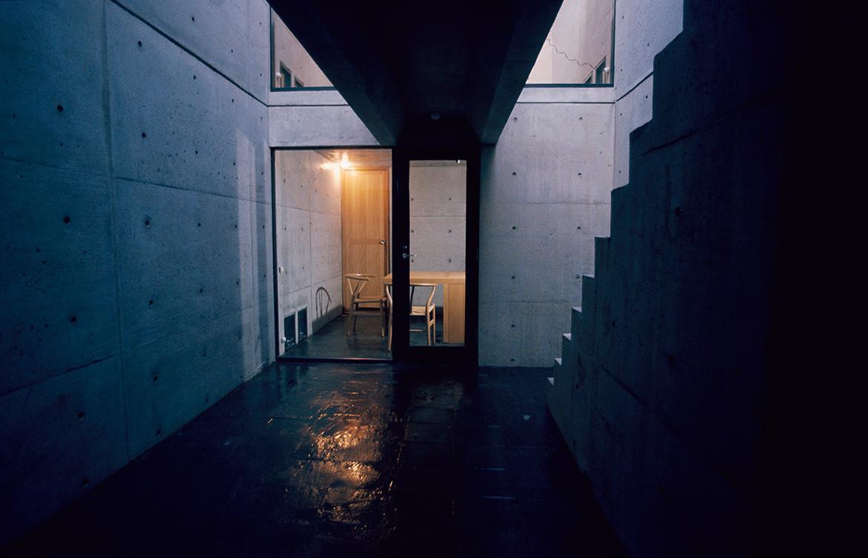 """Tadao Andō, """"La Row House"""" ou """"Maison Azuma"""", Osaka, 1975."""