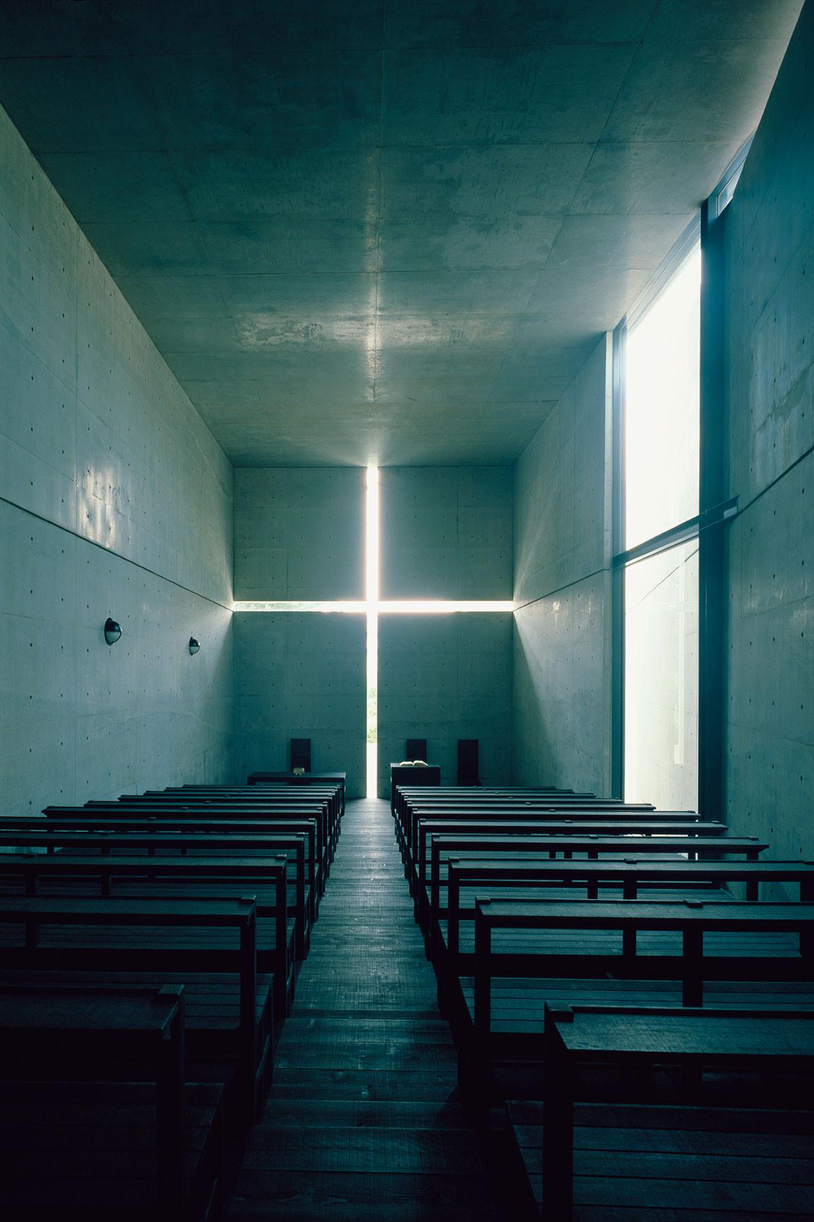 "Tadao Andō, ""L'église de la Lumière"", Ibaraki (nord-ouest d'Osaka), 1989."