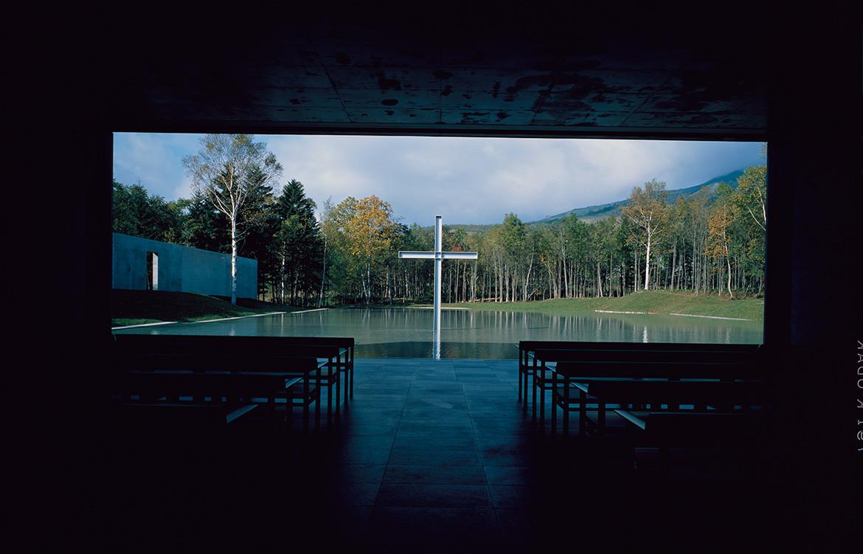 Tadao Andō, « Chapelle sur l'eau », Tomamu,1991.