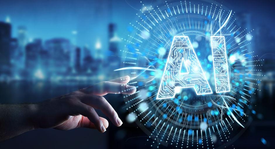 Businessman using digital artificial intelligence icon hologram