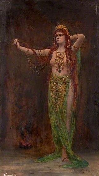 "Margaret Murray Cookesley, ""Circe Resplendens"", peinture à l'huile, 1913."