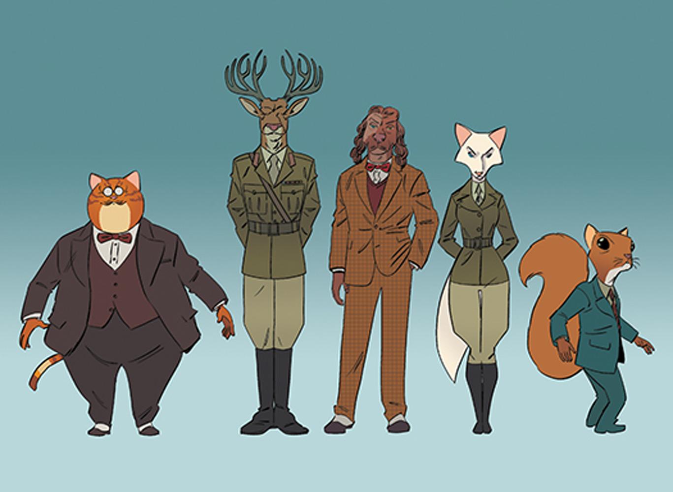 Les nouveaux personnages de Wild's End