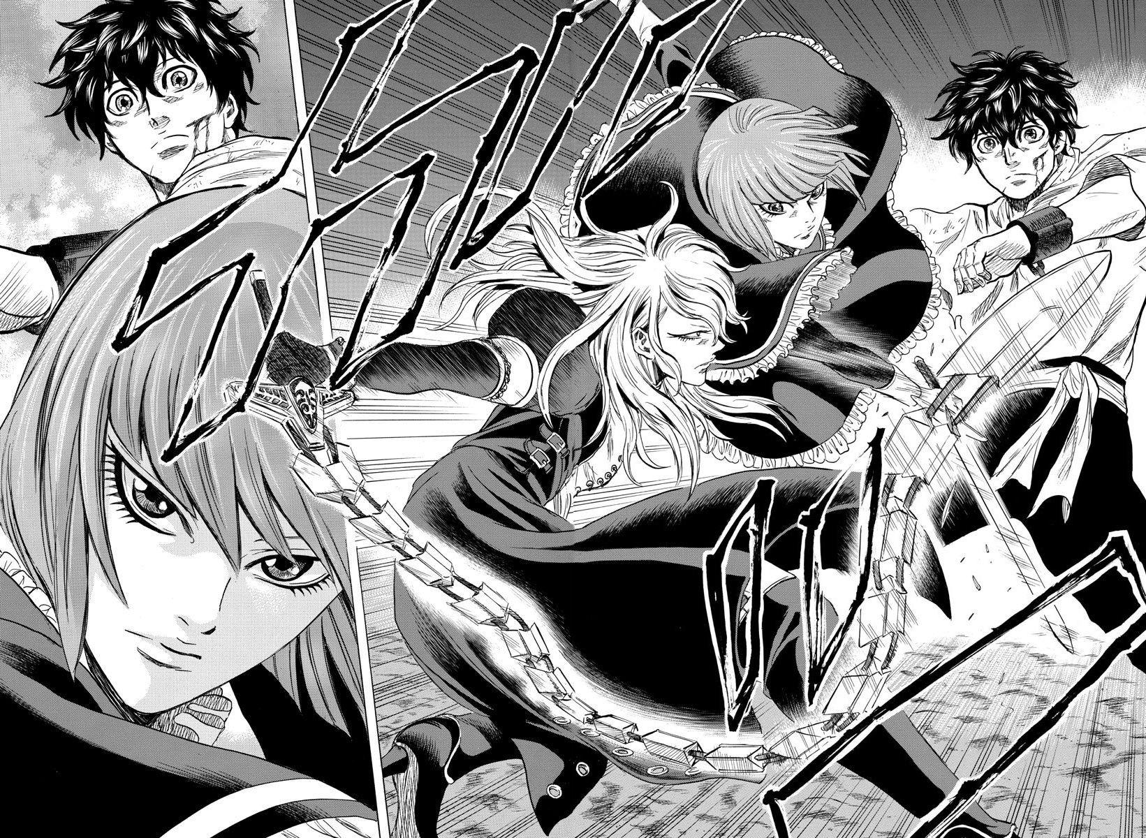 Elio le fugitif de Masami Hosokawa, double page