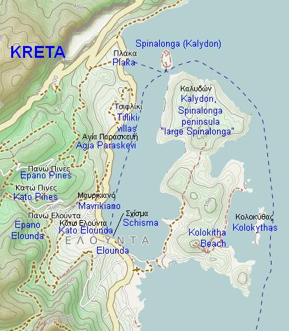 Carte qui présente le lieu où se déroule l'histoire du roman de Victoria Hislop