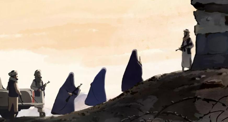 """L'adaptation en dessin-animé par Zabou Breitman et Eléa Gobbe-Mevellec du roman """"Les Hirondelles de Kaboul"""""""