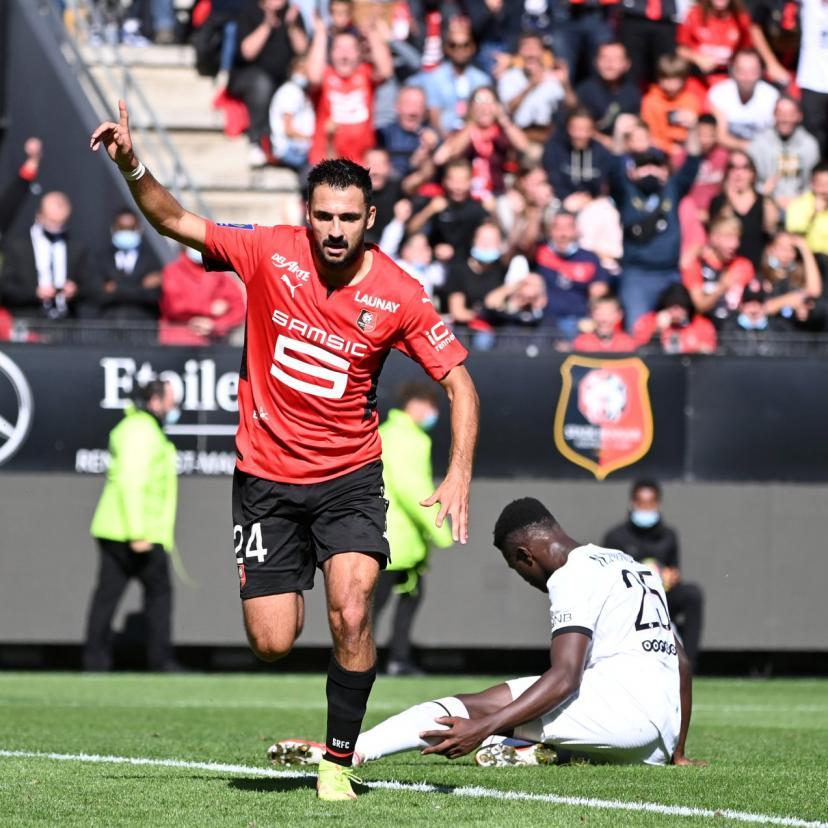 Paris domine mais n'arrive pas à s'imposer, donc Laborde en profite 1-0 pour Rennes.